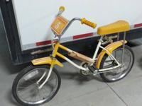 For sale a Yellow Western Flyer Bicycle. . It is Brand