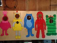 For sale hand made Yo gabba gabba cut outs. The first