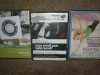 3 yoga DVDs 1 has not been opened Free Dvd included