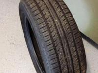 One (1) YOKOHAMA AVID Touring-S Tire - USED -