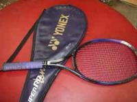 I am selling a Yonex Super RQ 500 Long tennis racket