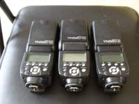 Upgrading my devices and offering my 3 Yongnuo flashes.
