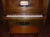 York Player Piano with 58 Player Rolls, Manufactured by
