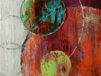 The Orbit is an original hand painted artwork. High