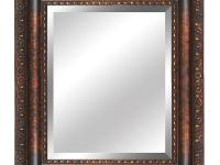 YM032G-50 is a antique gold framed mirror. Antiqued