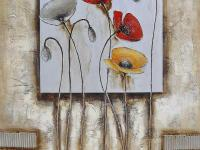 The Poppies For You II is an original hand painted