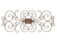 Elegant traditional wall accent crafted from wrought