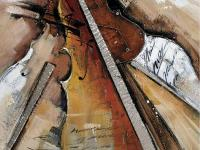 Strings Abstract is an amazing hand painted, abstract