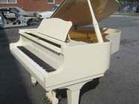 "Young Chang Grand Piano, 5'8"" (Ivory/White) Used about"