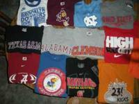 Lots of Nike college t-shirts. Good shape from clean,