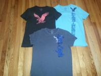 YOUNG MEN'S SHIRT'S...AMERICAN EAGLE , UNDER ARMOUR,