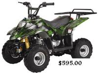 Youth kid size atv  Atvs are fully assembled with