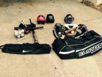 Youth baseball equipment. Very good condition. Get all