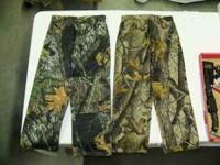 I have 6-pair of Youth boys camo pants,the pants range