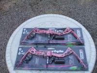 I have two pink Hoyt Fuse Freestyle youth bows for sale