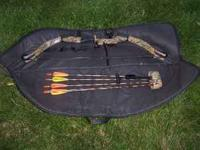 "PSE Deer Hunter Compound Bow. 24"" draw, 40 lb, 60%"
