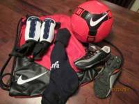 Red Nike Backpack style backpack, Used pair of Nike