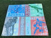 This hand painted sports canvas can be mounted on a