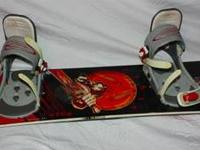 Youths Burton Snowboard for sale. Includes Burton