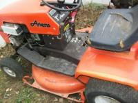"Ariens riding lawnmower, it has a 30 inch or 32"" inch"