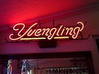 "YUENGLING NEON SIGN W/ RED SCRIPT LOGO  28-1/2"" WIDE X"