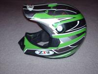 Selling a used Z1R Motocross Helmet. This is a YOUTH