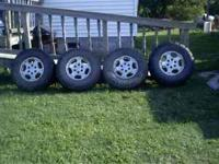 rims are in good shape tires are trxus m/t 3 have 1/4