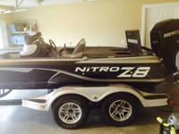 2012 nitro Z8  Mercury 250 pro Xs 101 minnokota with