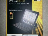 iPad case with removable Bluetooth keyboard. Great