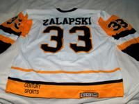 This is a nicely worn home jersey from the 1988-1989