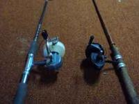hi...i have a pair of open face reels/ rods i think are