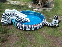 Inflate and fill with water Great little pool, lots of