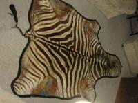 Zebra Skin - The hide has some imperfections. can be