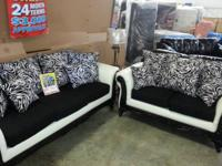 Zebra Sofa And Love Set Two Styles Same Great Low