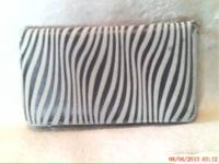 Zebra print Multi-functional Accordion Style Wallet.