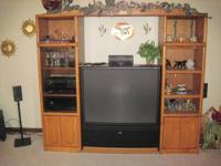 "older but great condition Zenith 46"" TV. never used by"