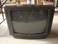 "Zenith 25"" Color TV with Remote. Works great, cable"