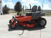 "For Sale: 2007 Husqvarna 48"" zero turn mower; 29 hours;"