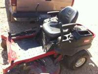 "I have a Titan 50"" ZX 5000 toro mower with 85 hrs for"