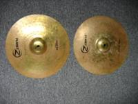 "Zildjian Planet Z 14"" hi hat cymbals. sound great but"