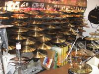 We offer brand-new and secondhand cymbals and stock a