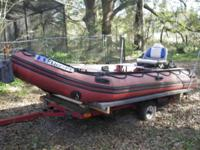 ZODIAK TYPE INFLATABLE 14 FT BOAT BY MERCURY 2005 Top