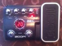 ZOOM G2.1 MULTI EFFECT PEDAL, JAZZ THRU METAL SETTINGS,