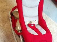$80 new. High end child seat rocker carrier. Multiple