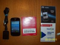 Like new ZTE VALET smartphone. Good shape other than