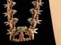 Zuni inlay hummingbird pendant. Authentic Southwest
